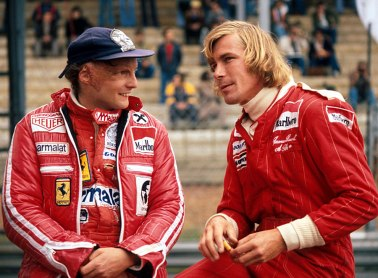Niki Lauda and James Hunt in a picture