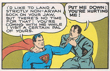 Superman confronts Hitler