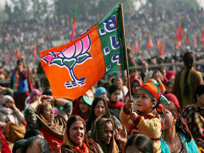 BJP victory celebrations in Rajasthan