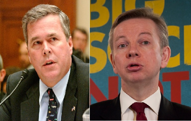 Jeb Bush and Michael Gove - both meddlers in history