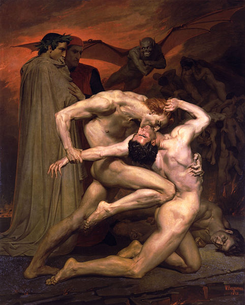Dante And Virgil In Hell (1850) by William-Adolphe Bouguereau