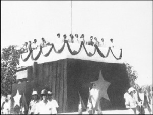 Ho Chi Minh read the proclamation of Vietnamese independence