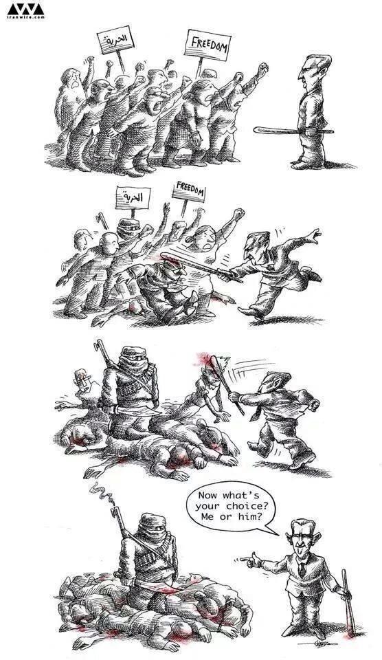 Assad destroying moderates
